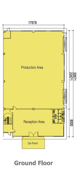 80x160 Semi Detached Factory Ground floorplan